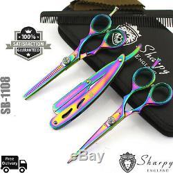 5.5 Pro Coupe De Cheveux Ciseaux Amincissants Set Ciseaux Salon De Coiffure Salon De Coiffure