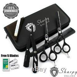 5.5 Salon Professionnel Coiffure Coupe De Cheveux Dilution Salon De Coiffure Ciseaux + Kit