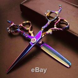 6 Coiffure Professionnels Ciseaux Barber Salon De Coiffure Coupe / Amincissement Ciseaux