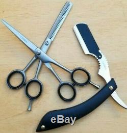 6 Salon Professionnel Ciseaux De Coupe De Cheveux Diluant Salon De Coiffure Ciseaux Set Rasoir Kit