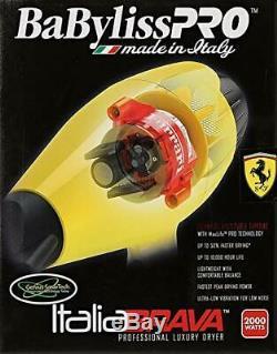 Babyliss Pro Italia Brava Salon Sèche-cheveux 2000w Ferrari Moteur # Bfb1
