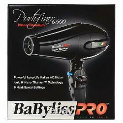 Babyliss Pro Nano Titanium Portofino 6600 Salon Professionnel Sèche-cheveux Ita
