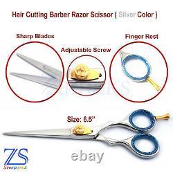 Barber Coupe Des Cheveux Ciseaux Pousses Coiffure Barber Salon Professionnel