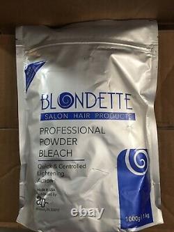 Blondette Salon Professional Powder Bleach Bleu Sans Poussière 1 KG 1000g