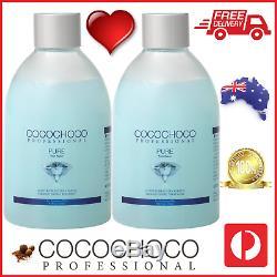 Cocochoco Pro 2x Pure Brésil Kératine Défrisage Salon Traitement 250ml