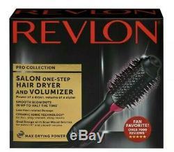 Collection Salon Pro Revlon One Step Sèche-cheveux Et Volumizer Brosse Rose Nouveau