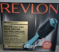 Collection Salon Pro Revlon One Step Sèche-cheveux Et Volumizer Brosse Teal- Nouveau
