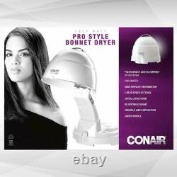 Conair Professional 1875 Watt Bonnet Hard Hat Hair Dryer Hood Salon Portable Pro