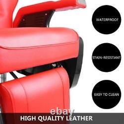 Cuir Réglable Top-grade Professional Limousine Barber Salon Chair Hair Red