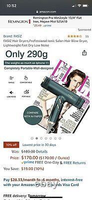 Fasiz Salon Professionnel Ionique Cheveux Sèche-cheveux Détaillants 189 $ Léger Rapide À Sec