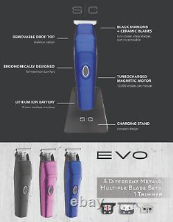 Gamma Plus Evo Sc Pro Hair Trimmer Cordless Barbers Salons 3 LID In Stock Royaume-uni