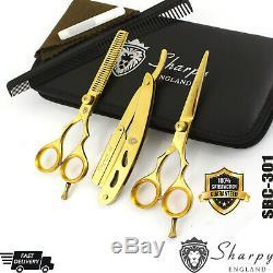 Japonais De Coupe De Cheveux D'or Professionnel Ciseaux Barber Stylist Salon Ciseaux 5.5