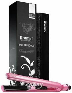 Karmin G3 Salon Pro Redresseur De Cheveux Professionnel, Céramique Et Tourmaline Rose