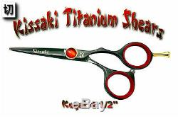 Kissaki Pro 4.5 De Coupe De Cheveux Titane Kogai Noir Ciseaux Salon Ciseaux Cheveux