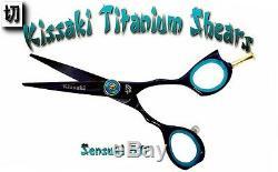 Kissaki Pro 5.0 Sensuki Ciseaux De Coupe Bleu Noir Salon De Coiffure Salon De Coiffure Ciseaux