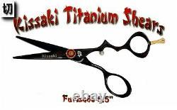Kissaki Pro 5.5 Furisode Titanium Black Titanium Ciseaux Ciseaux Salon Cisailles De Cheveux