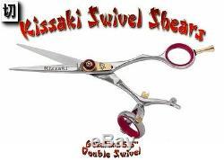 Kissaki Pro 5.5 Gokatana R Double Pivot Coupe De Cheveux Ciseaux Salon Ciseaux