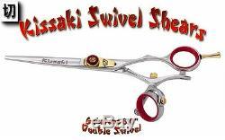 Kissaki Pro 6.0 Gokatana R Double Pivot Coupe De Cheveux Ciseaux Salon Ciseaux