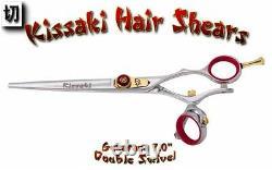 Kissaki Pro 7.0 Gokatana Slv R Double Pivot Coupe De Cheveux Ciseaux Salon Ciseaux