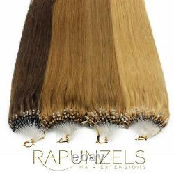 Micro Ring, Micro Loop Rapunzels Professional Salon Remy Hair Extensions 1gram