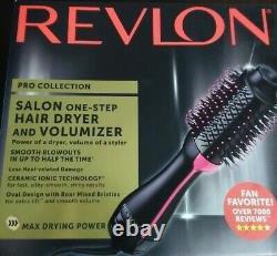 Nouveau Revlon Pro Collection Salon One-step 1100w Hair Dryer & Volumizer Brush