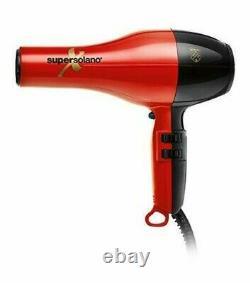 Nouveau Super Solano Extreme Professional Italian Salon Sèche-cheveux 232x Rouge - Noir