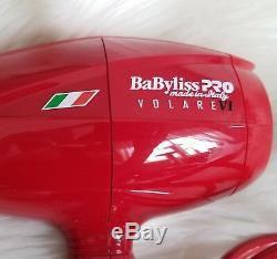 Nwob Babyliss Volare V1 / V2 Salon Professionnel De Luxe Sèche-cheveux Ferrari Moteur