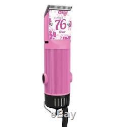 Oster Classique 76 Clipper Hair Salon Professionnel Pro Rose Bubble Gum Nouveau