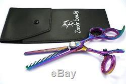 Pouce Pivotant À Trois Anneaux Salon Professionnel Barber Cisaillement Coupe De Cheveux Set Ciseaux