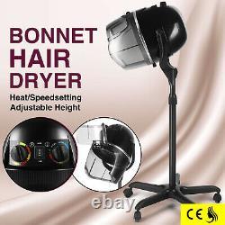 Pro Ajustable Bonnet Sèche-cheveux Minuterie Swivel Hood Caster Salon Beauté Stand Up