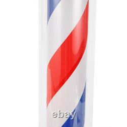 Pro Barber Pole Led Rotative Lumière De Salon De Cheveux Signe Rouge Blanc Bleu Rayures Lampe