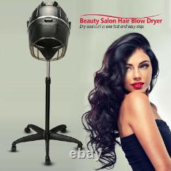Pro Réglable Bonnet Hair Dryer Timer Swivel Hood Caster Salon Beauté Stand Up