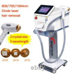 Pro Salon 808nm Diode Laser Machine Pour L'épilation Skin Rejuvenation Machine