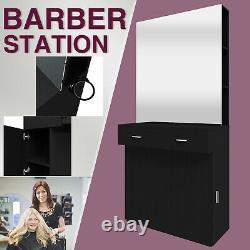 Professional Barber Station Salon Coiffure Maquillage Mur Mount Barber Shop