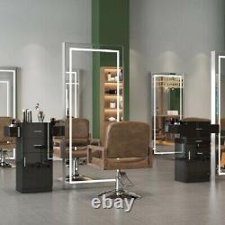 Professional Barbershop Stockage En Bois Styliste Station Hair Salon Cabinet Locker