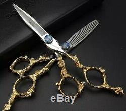 Professionnel Ciseaux Cheveux Set Salon De Coiffure Coupe De Cheveux Cisailles Japan Steel 6