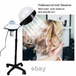 Professionnel Hair Steamer Salon Hooded Floor Hair Bonnet Dryer Stand Rolling