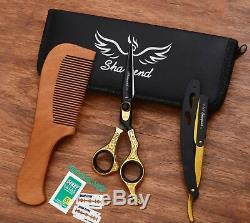 Professionnel Salon De Coiffure Coupe De Cheveux Ciseaux Ciseaux Coiffure Salon & Gold Rasoir