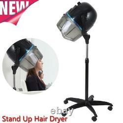 Professionnel Stand Up Sèche Cheveux Minuteur Swivel Hood Caster Pour Salon De La Beauté Des Cheveux