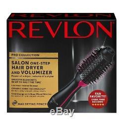 Revlon Pro Collection Salon One Step Sèche-cheveux Et Volumizer Brosse Tout Neuf