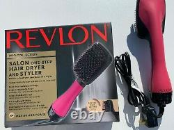 Revlon Pro Collection Salon One-step Sèche-cheveux Et Styler Rose Paddle Brosse