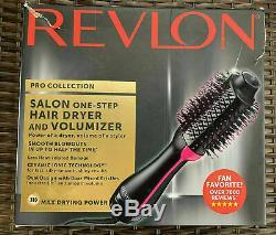 Revlon Pro Collection Salon One-step Sèche-cheveux Et Volumizer Hot Air Black Brush