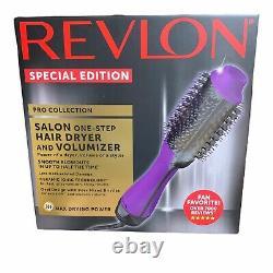 Revlon Special Edition Purple Pro Salon Séchoir À Cheveux Et Brosse À Volumizer À Une Étape