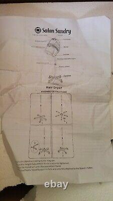 Salon Divers Professionnel Bonnet Style Hood 1000 Watt Salon Sèche-cheveux Noir Fs