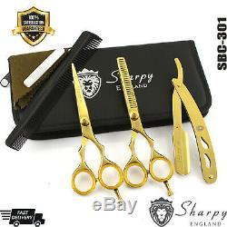 Salon Professionnel Ciseaux De Coupe De Cheveux Diluant Salon De Coiffure Ciseaux + Set Rasoir Kit