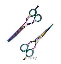 Salon Professionnel Coiffure Salon De Coiffure Cheveux Ciseaux Ciseaux Coated Titanium 5.5