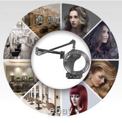 Salon Professionnel Hair Dryer Mur Monté Bonnet Avec Timer Swivel Hood Caster