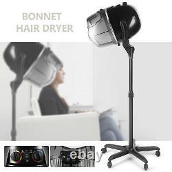 Salon Professionnel Sèche-cheveux Stand Bonnet Hotte Réglable Minuterie De Chauffage Roues