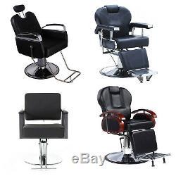 Salon Spa Haircut Salon De Coiffure Chaises Hydraulic Reclining Cheveux Beauté Équipement Noir
