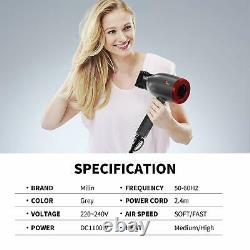 Sèche-cheveux Professional Ceramic Salon Infrared Negative Ions Puissant 1100w